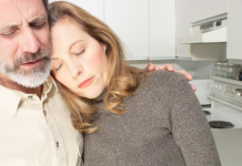 Husband consoling Upset Wife